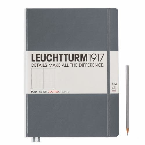 Leuchtturm 1917 Notebook Master Slim (A4+) Hardcover 121 numbered pages dotted anthracite