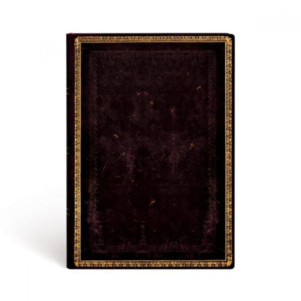 Paperblanks Journals Journal - Flexis Format Midi, Lined - Black Moroccan - 176 Page Count