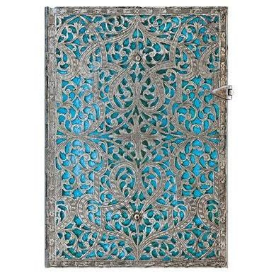 Paperblanks Journals Journal - Midi, Lined Clasp - Maya Blue