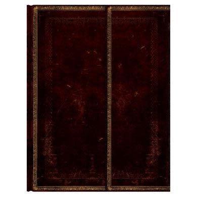 Paperblanks Journals Journal - Ultra, Lined Foldover - Black Moroccan