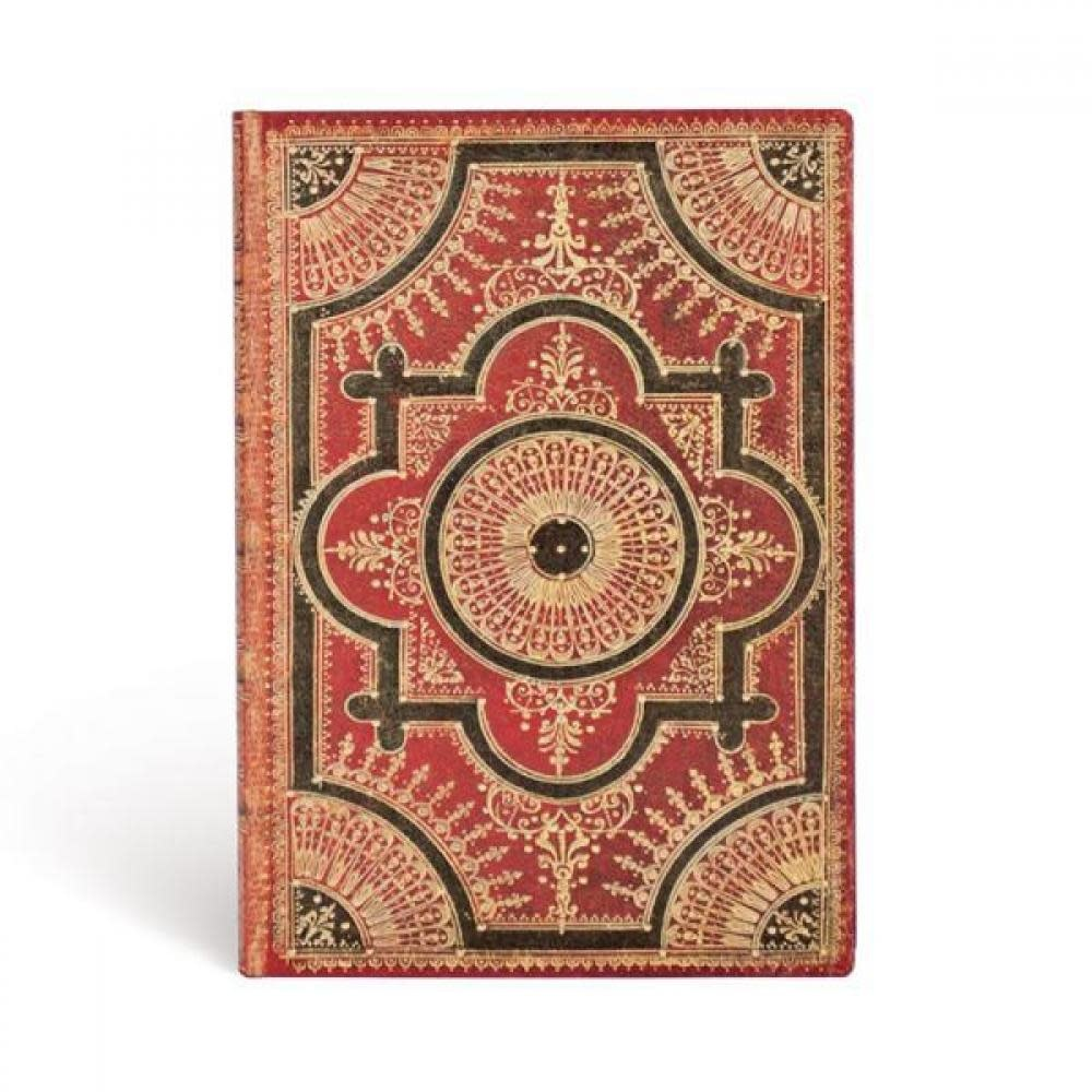 Paperblanks Journals Journal - Ultra, Lined - Ventaglio Rosso Kraft