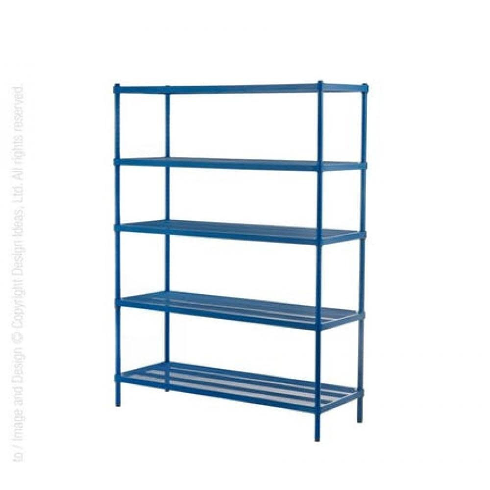 Design Ideas Shelving Unit - Mesh - 5-tier - Petrol Blue
