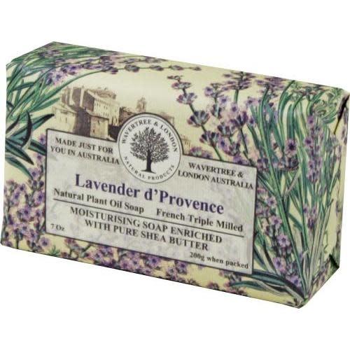 Australian Natural Soapworks Wrapped Soap 7oz 200g Lavender d' Provence