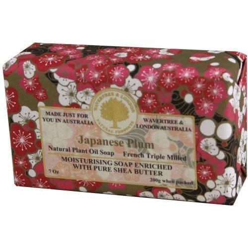 Australian Natural Soapworks Wrapped Soap 7oz 200g Japanese Plum