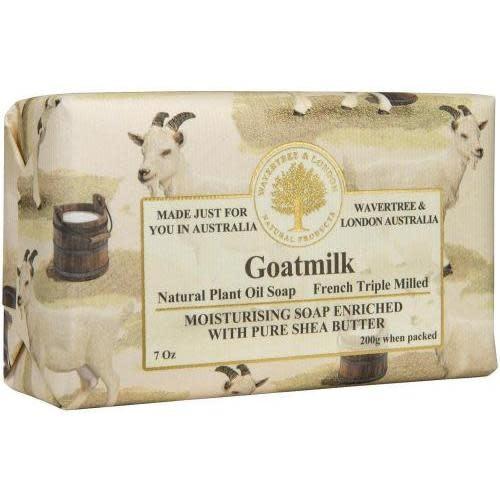 Australian Natural Soapworks Wrapped Soap 7oz 200g Goatmilk