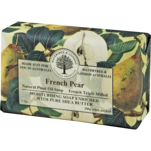 Australian Natural Soapworks Wrapped Soap 7oz 200g French Pear