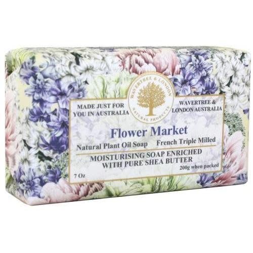 Australian Natural Soapworks Wrapped Soap 7oz 200g Flower Market