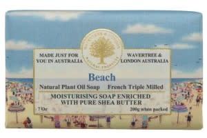 Australian Natural Soapworks Wrapped Soap 7oz 200g Beach