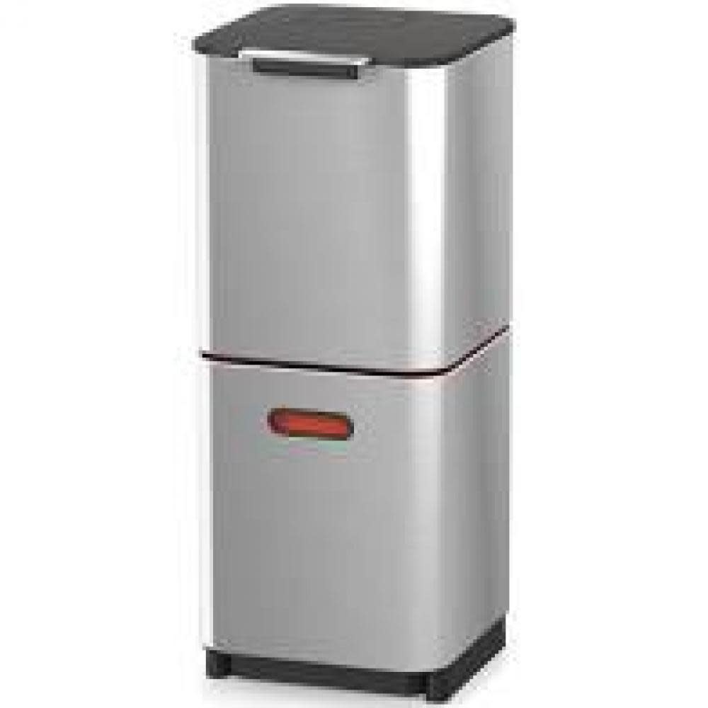 Joseph Joseph Totem Max Stainless Steel Trash and Recycling 40L