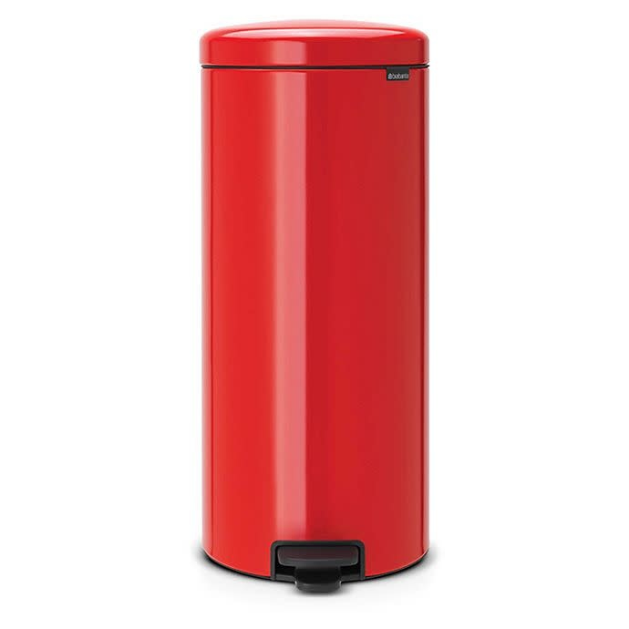 Honey Can Do Brabantia Newicon 30-Liter Step-On Trash Can in Passion Red