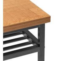 New Pacific Direct Walter Desk Engineered Wood Top Gunmetal Base