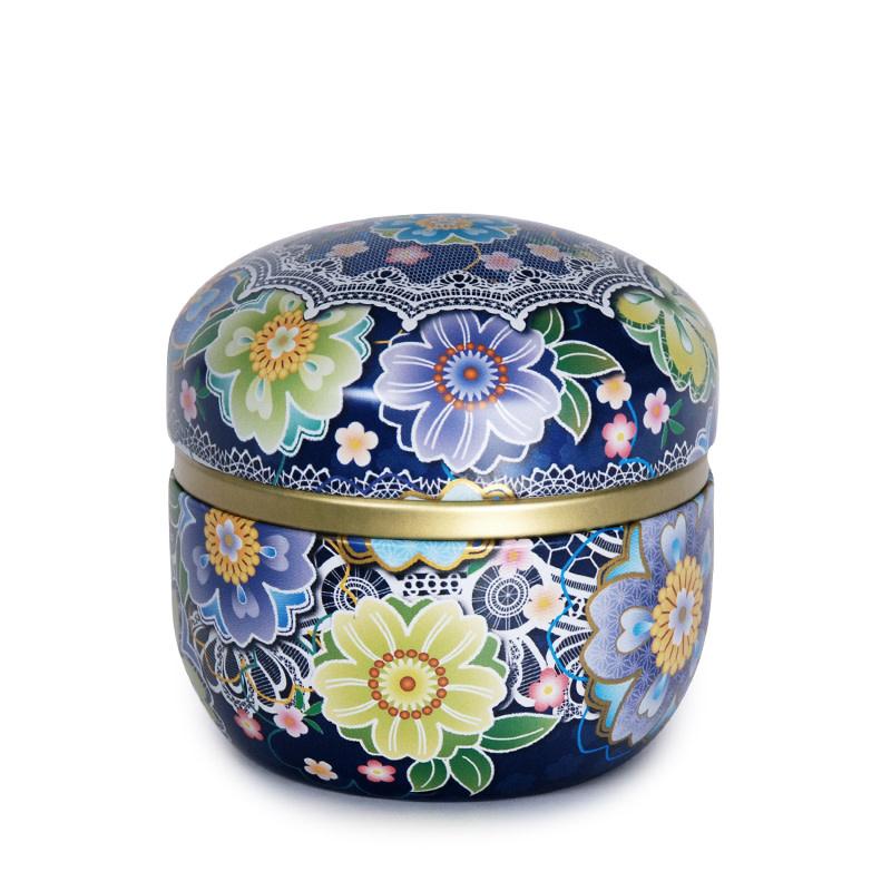 "Fuji Merchandise Corp Tea Tin 3.25"" Blue"