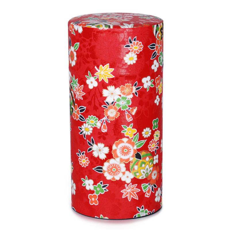 "Fuji Merchandise Corp Tea Tin 6"" Red"