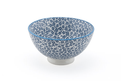 """Fuji Merchandise Corp Rice Bowl With Little Blue Flower 4.5"""""""