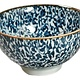 "Fuji Merchandise Corp Rice Bowl Blue Vine 4.25"""