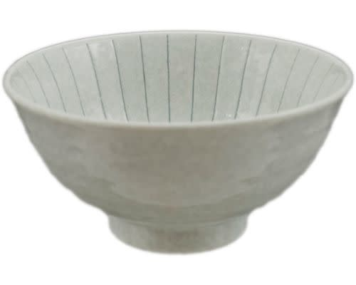 Fuji Merchandise Corp Noodle Bowl Light Grey With Lines 6.25
