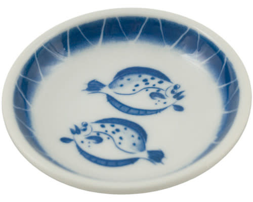 "Fuji Merchandise Corp Sauce Dish Fish 3.75"""