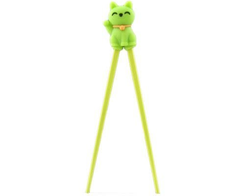 Fuji Merchandise Corp Chopstick Helper Green Cat