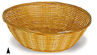 """Round Bamboo Bowl Basket 12"""" x 12"""" x 4"""""""