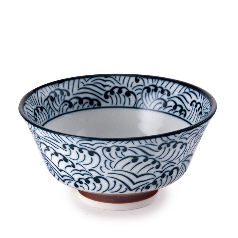 """Fuji Merchandise Corp Rice Bowl Blue Wave 5""""D"""