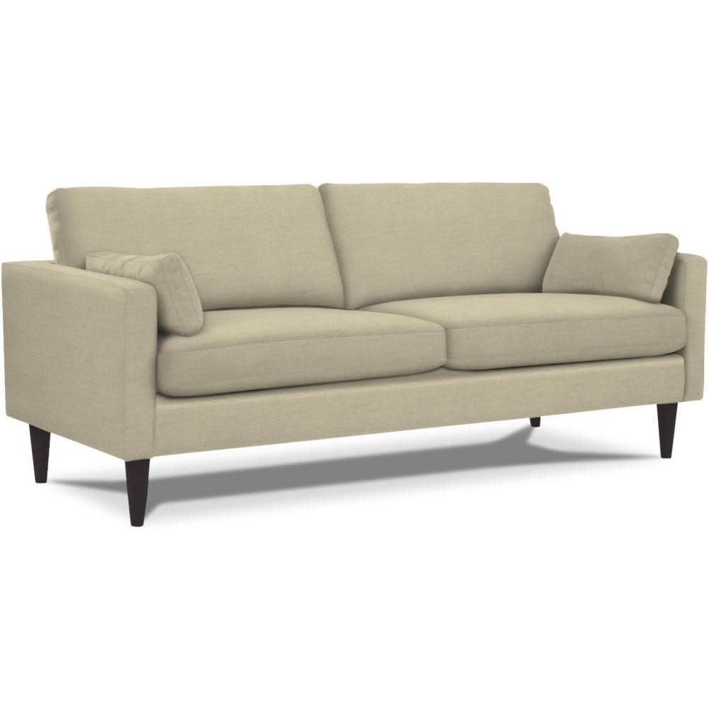 Best Home Furnishings Trafton Sofa Leather Polyurethane Match Grey Espresso Leg