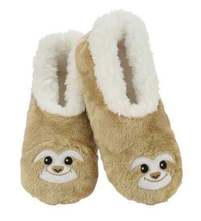 Snoozies Wild Anamals Lined Socks Sloth