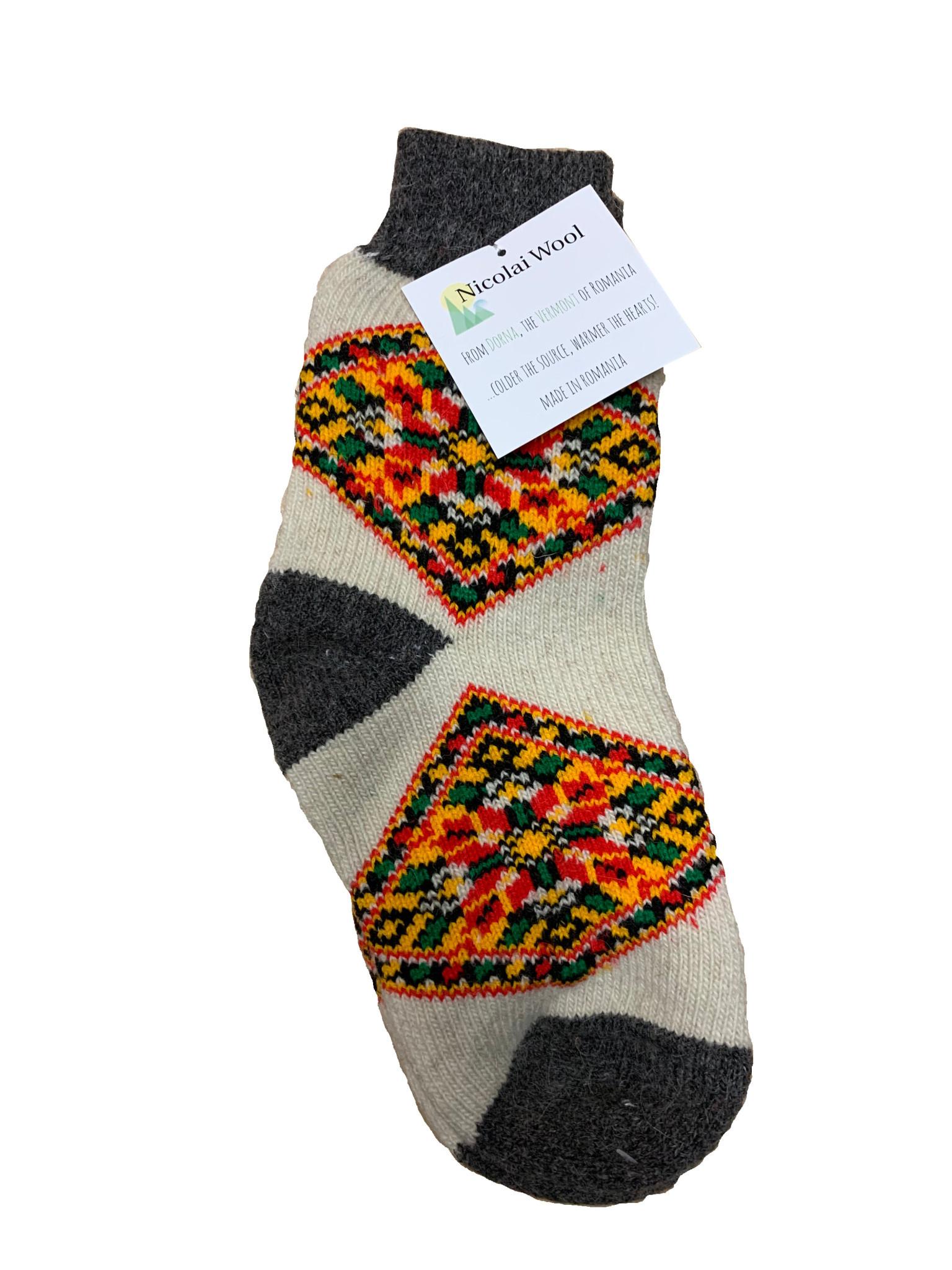 Nicolai Wool Romanian Socks Traditional Design