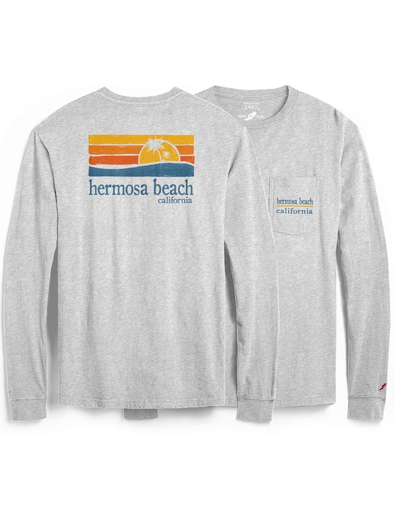 #517 LS POCKET TEE W/BEACH PALMS HB