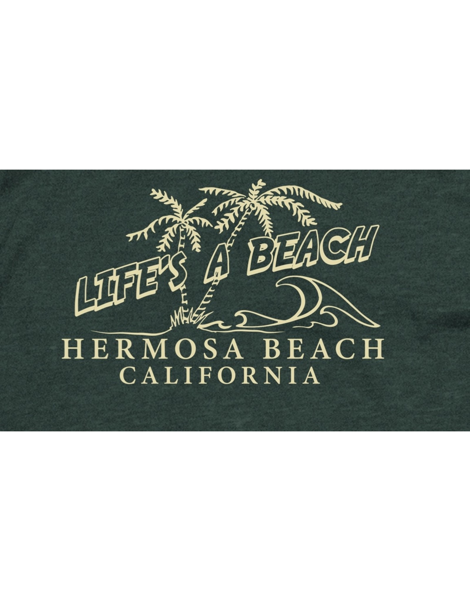Techstyles #913 LADIES SS VNECK TEE LIFES A BEACH BASIL