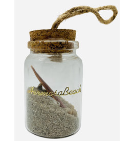 American Gift Corporation SAND IN A BOTTLE ORNAMENTS WOOD SURFBOARD