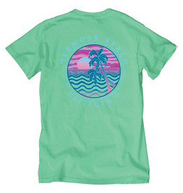 Lakeshirts INC. #219 SS COOL MOODY WAVES/PALMS