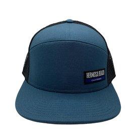#CC  HOPBACK FLAT BRIM HB WAVE MARINE BLUE