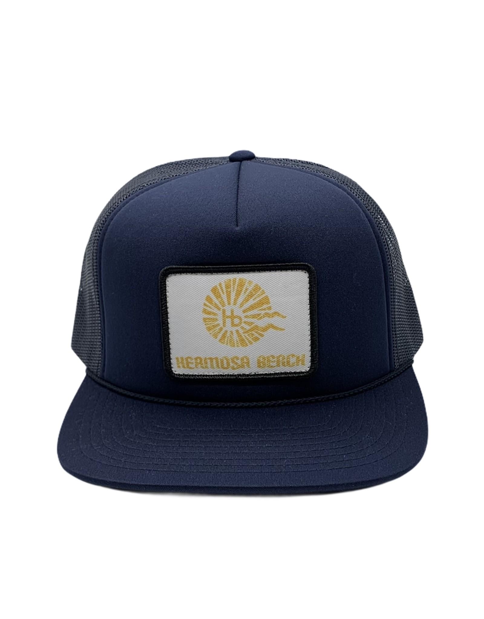 Captuer Headwear #D HB Sunrise Patch FOAM Hat  NAVY