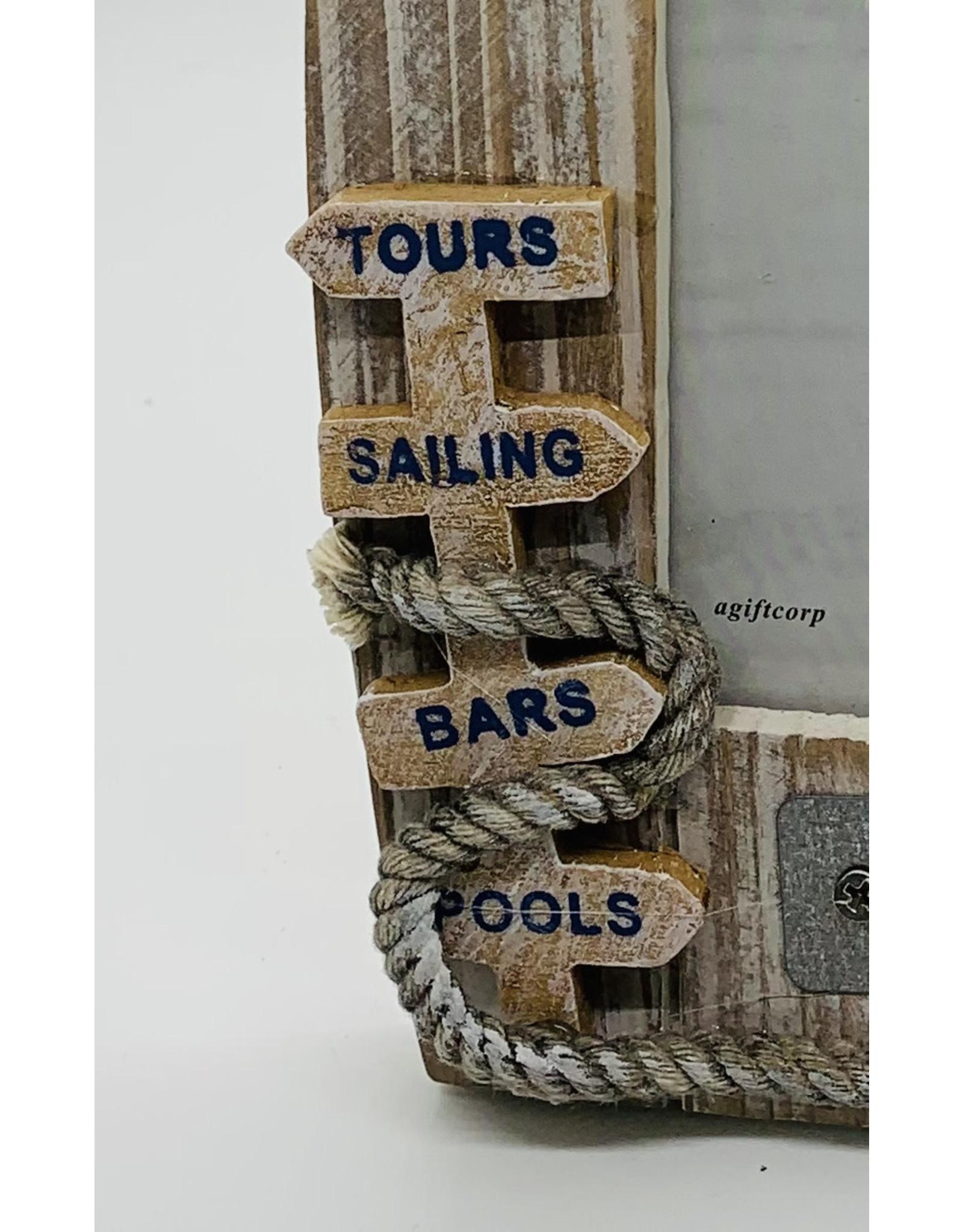 California Seashell company HB BOAT TOUR 5x7 FRAME