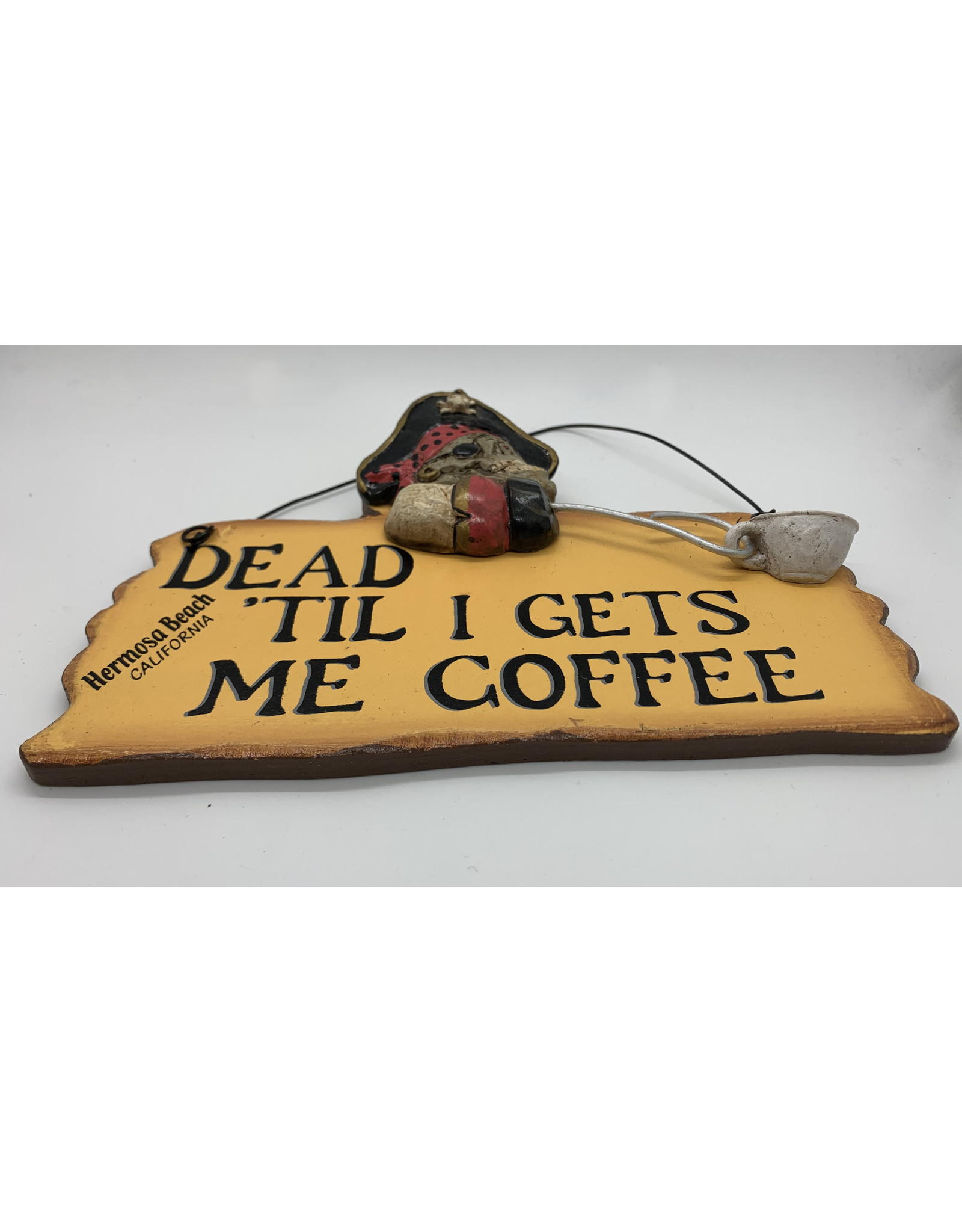 HB PIRATE COFFEE WOOD SIGN