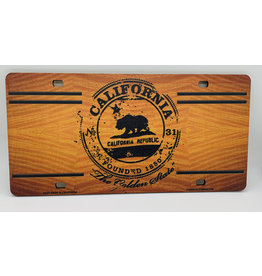 C-YA HB WOOD  LICENSE PLATES CA BEAR