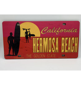 C-YA HB WOOD LICENSE PLATE PINK SUNSET