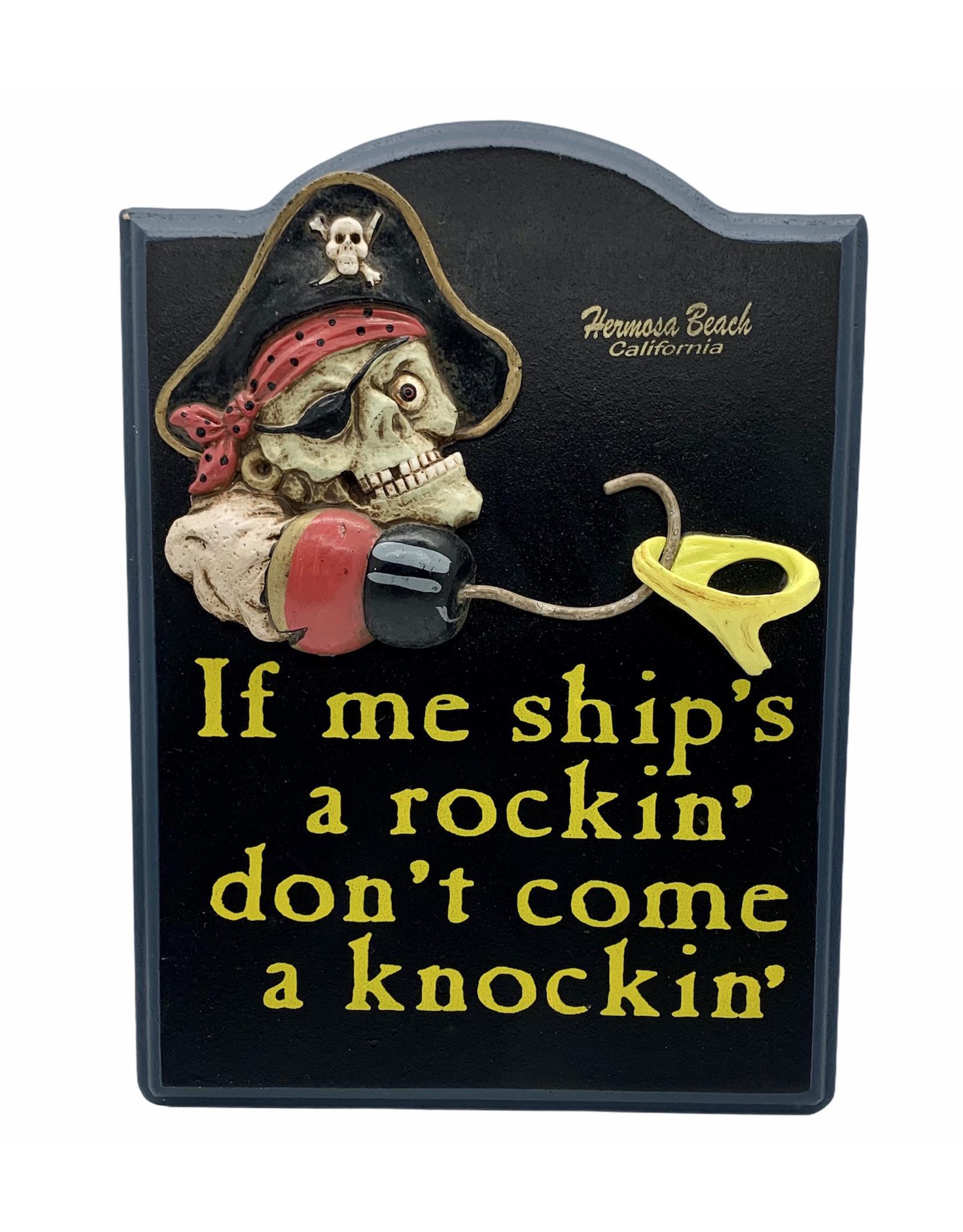 Treasure Chest HB SHIPS ROCKIN WOOD SIGN