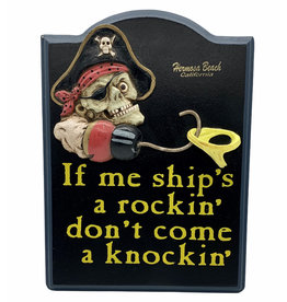 Treasure Chest HB SHIPS ROCKIN WOOD SIGN