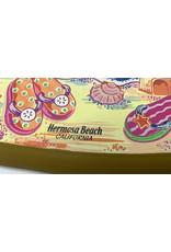 California Seashell company HB SURFBOARD WOOD ROPE SIGN