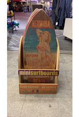 C-YA HERMOSA BEACH POSTCARD MINI WOOD SURFBOARD