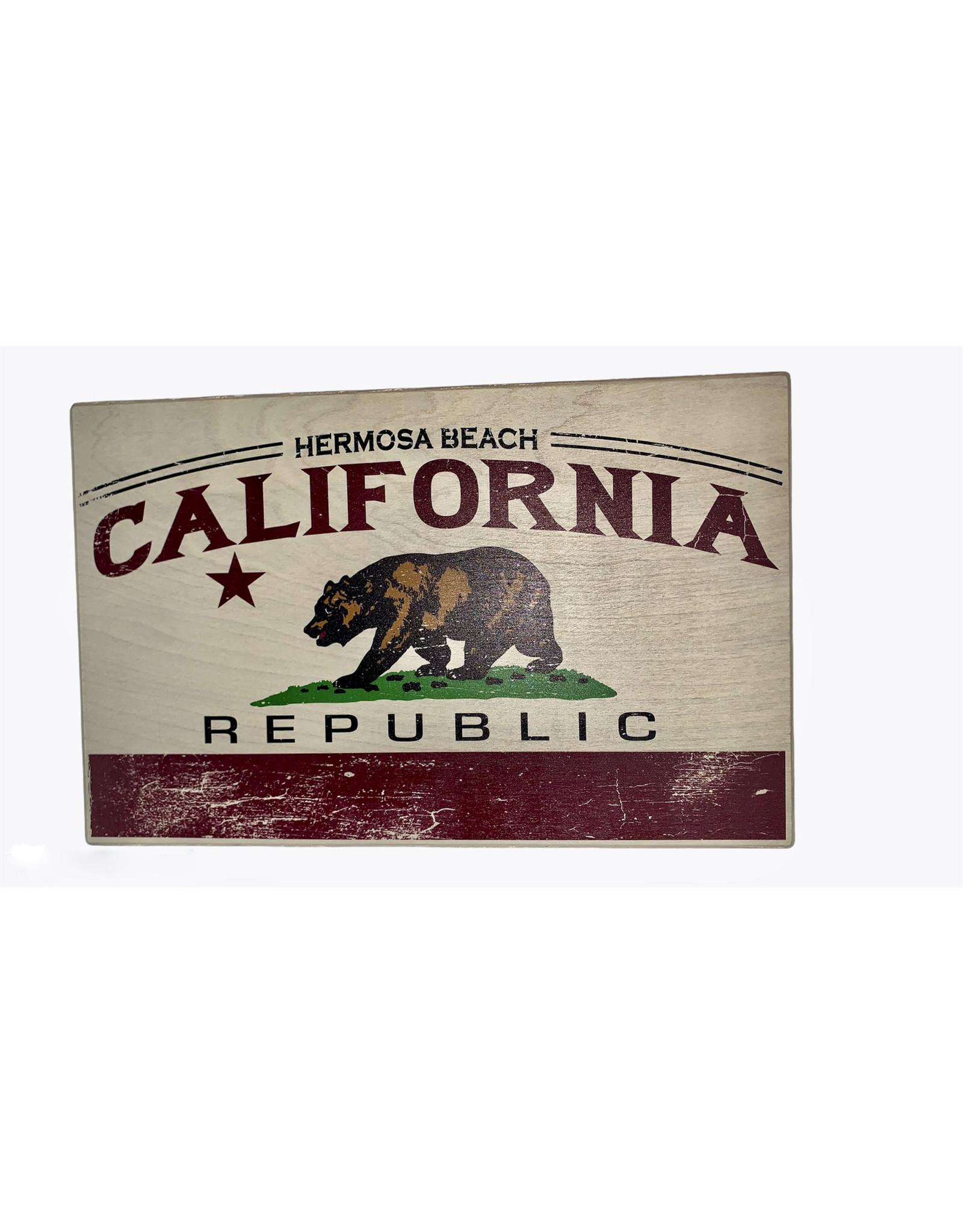 "HB CALI FREEDOM BELL WOOD SIGN 11.5""X18"""