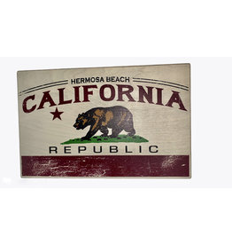 "HB CALI FREEDOM BELL WOOD SIGN 11.5""X18"""