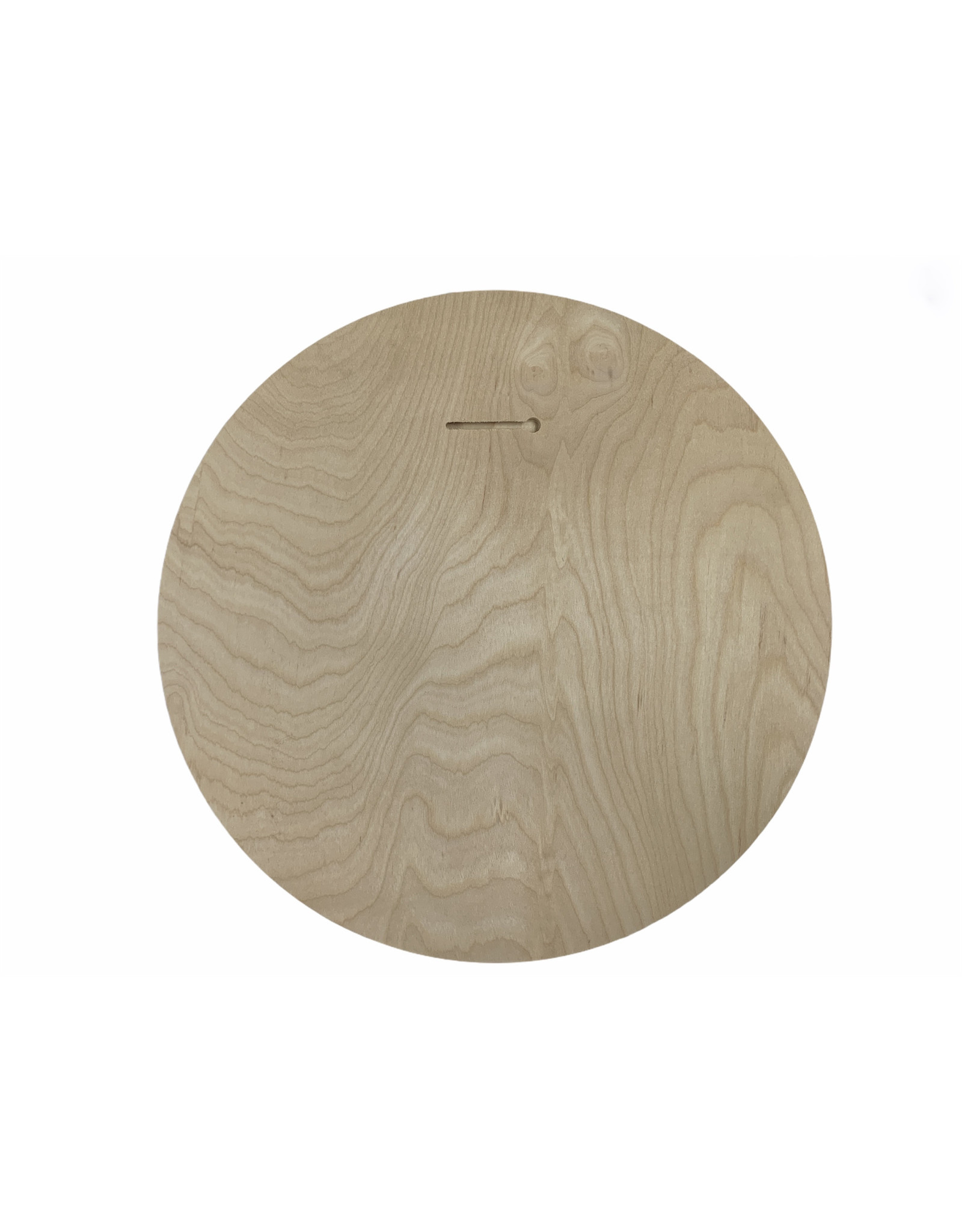 "Blue 84 HB PALM TREE WOOD CIRCLE SIGN 15.75"""