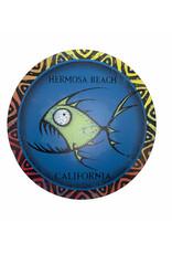"""Blue 84 HB MAZE FISH CIRCLE  METAL SIGN 11.5"""""""