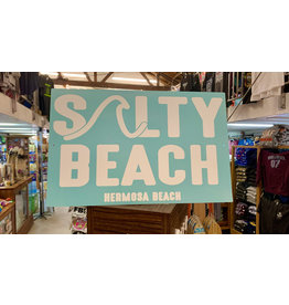 Lakeshirts INC. HB SALTY BEACH METAL SIGN 11.5'X18""