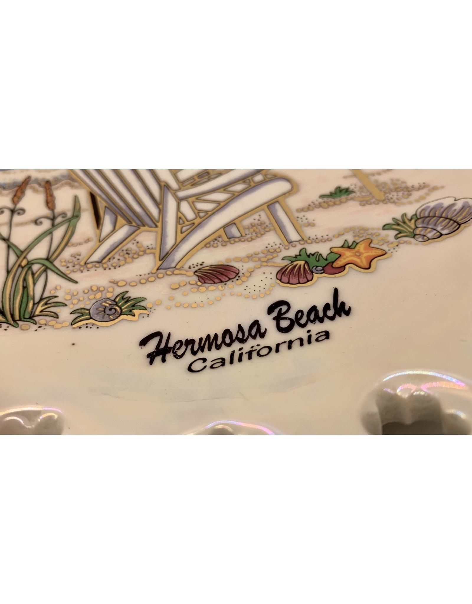 "HB DECORATIVE HANGING CERAMIC PLATE BEACH DAY 7.5"""