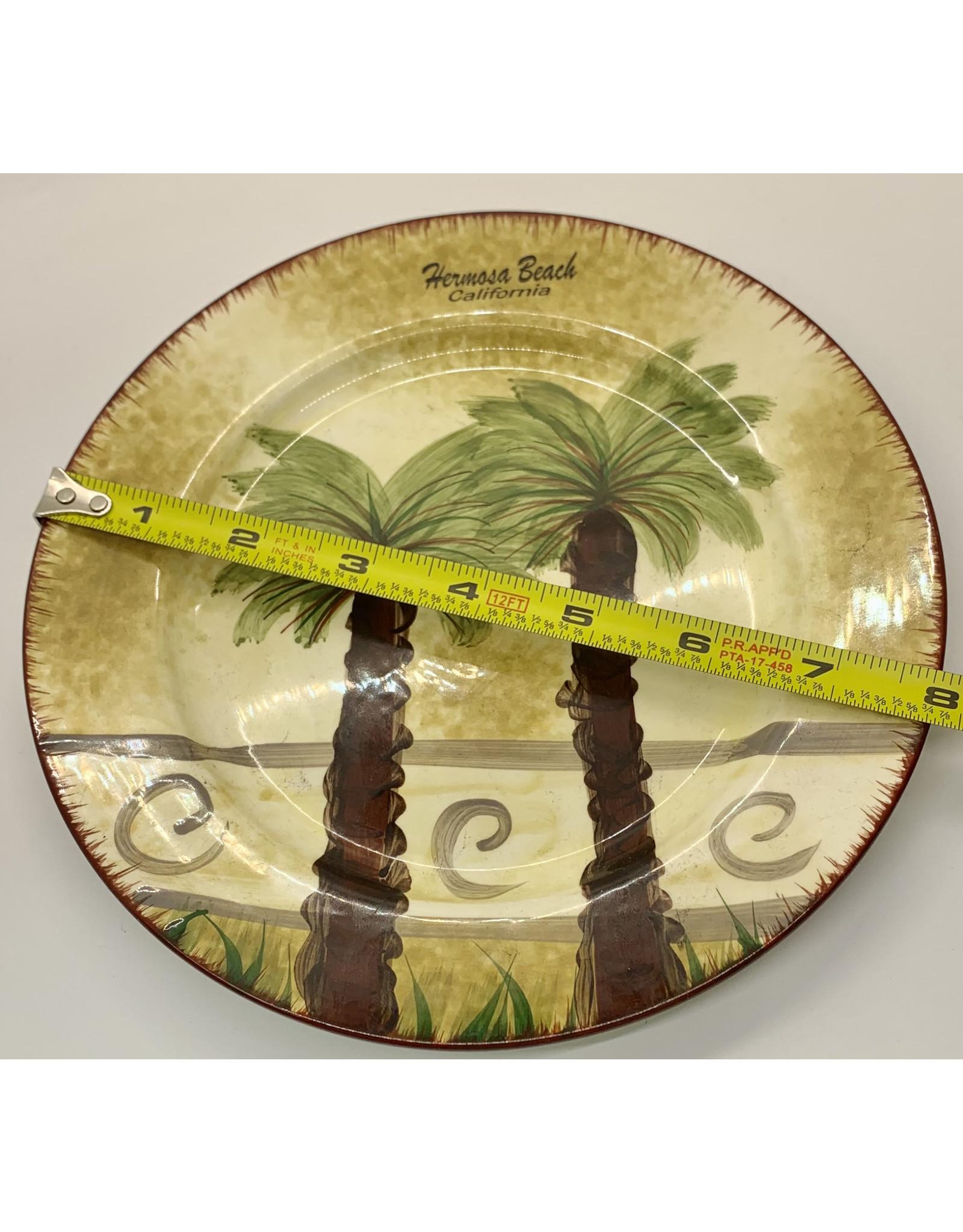 "HB DECORATIVE CERAMIC PLATE PALM TREE  7.5"""