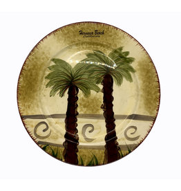 HB DECORATIVE CERAMIC PLATE PALM TREE  7.5""