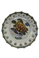 HB DECORATIVE HANGING CERAMIC PLATE TURTLE FISH 7.5""